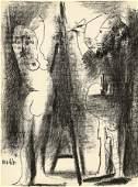 Picasso Pablo, Le peintre et son modèle. 1964