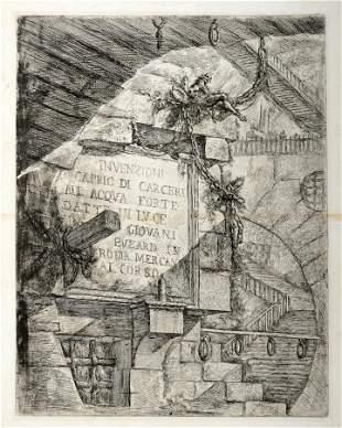 Piranesi, INVENZIONI/CAPRIC DI CARCERI. 1749-1750.