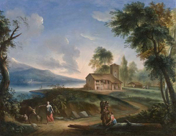 5: Old Master Oil Painting, 18th, Landscape