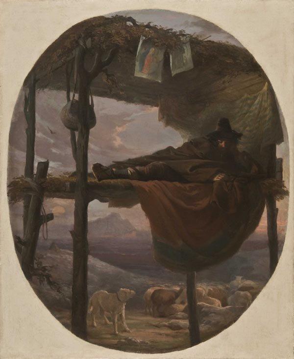21: Old Master Oil Painting, 18th century, Shepherd