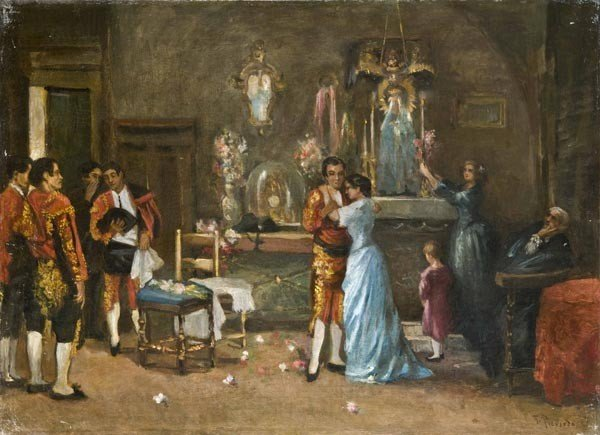 22: Old Master Oil Painting, Spanish School, 19th