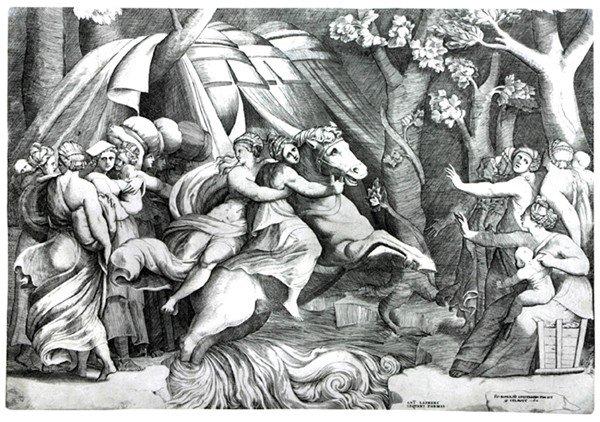 8: Old master print Engraving