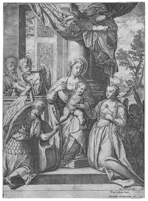 19: Old master print Engraving