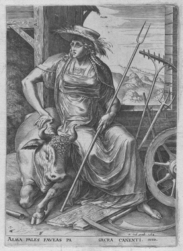 24: Old master print Engraving