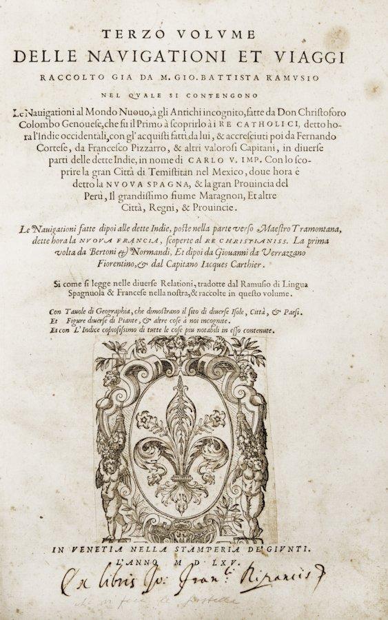 105: Ramusio Giovanni Battista