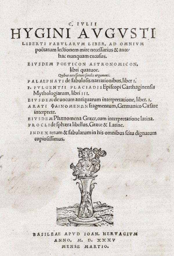 182: Hyginus Caius Julius