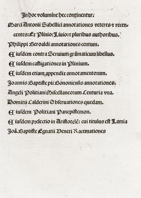 321: Sabellico Marco Antonio, Beroaldo Filippo, Polizia