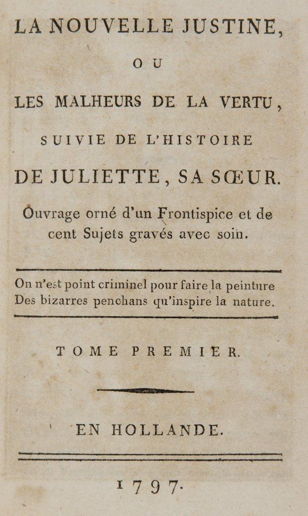 688: Sade Donatien Alphonse François