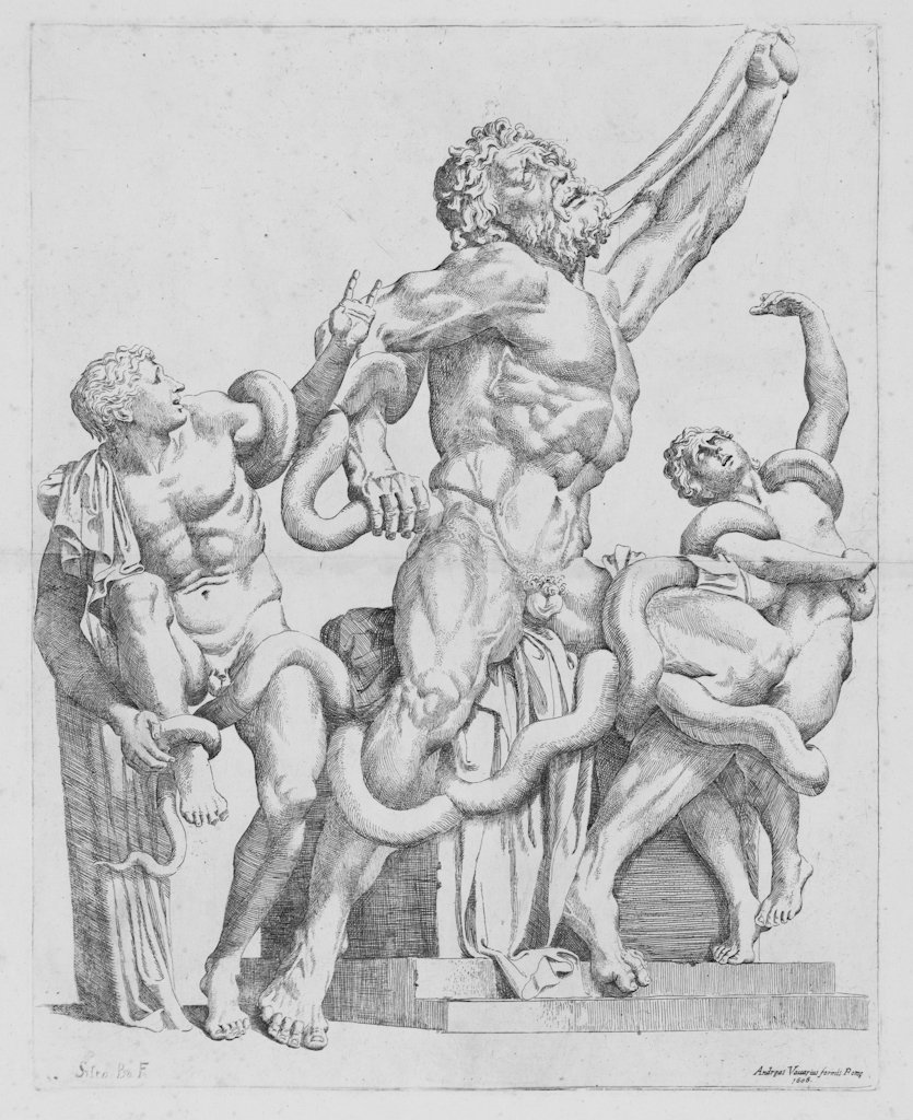 796: Badalocchio Sisto, Sculpture of Laocoon