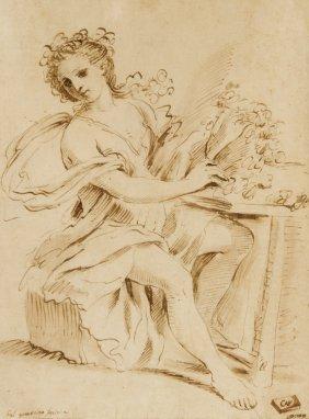 798: Il Guercino [da], Sitting lady