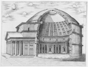 801: Beatrizet Nicolas, View of the Pantheon in Rome