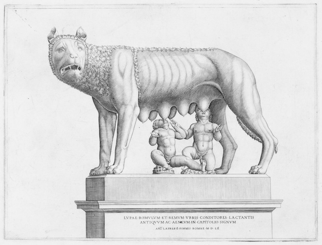 802: Beatrizet Nicolas, The Capitoline Wolf