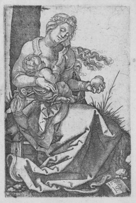 803: Beham Hans Sebald, Virgin and Child with the pear