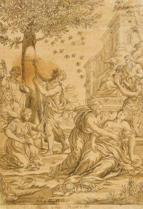 804: Pietro da Cortona [da], Methamorphosis of flowers