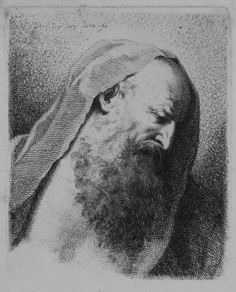 809: Bossi Benigno, Portrait of old man