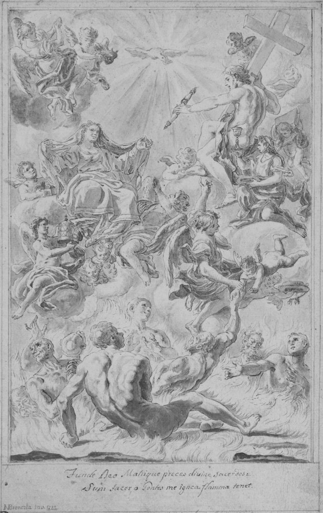 810: Brencola N., Christ and Virgin in glory