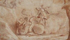 812: Camassei Andrea, Apollo and the python