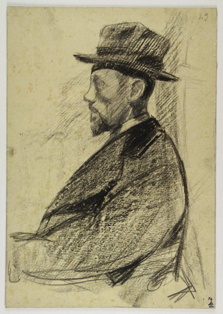 Libero Andreotti, Ritratto di uomo con cappello.