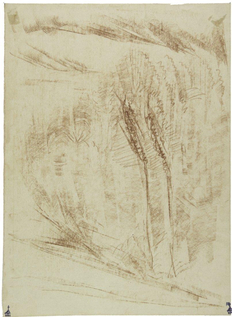 Libero Andreotti, Paesaggio con alberi.