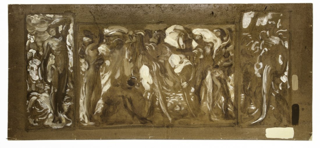 Adolfo De Carolis, Bozzetto per I cavalli del sole