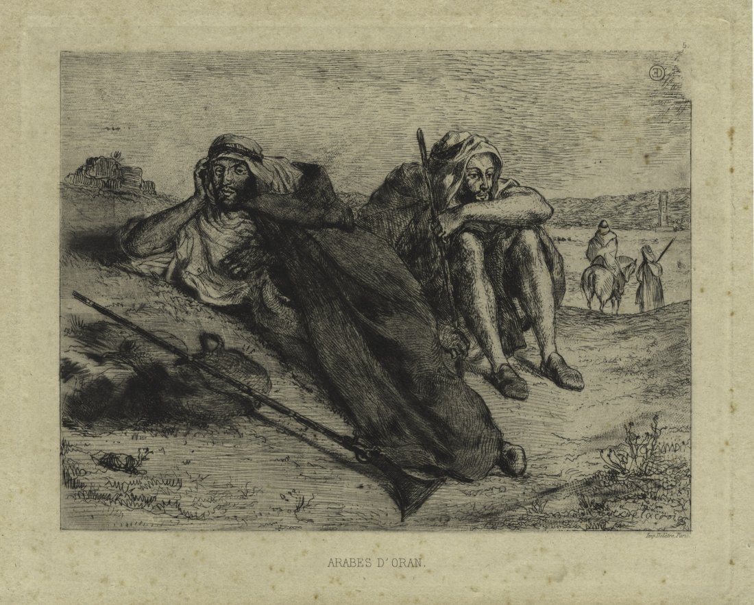 Eugéne Delacroix, Arabes d'Oran.