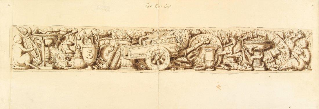 Anonimo del XVIII secolo.. Studio di fregio