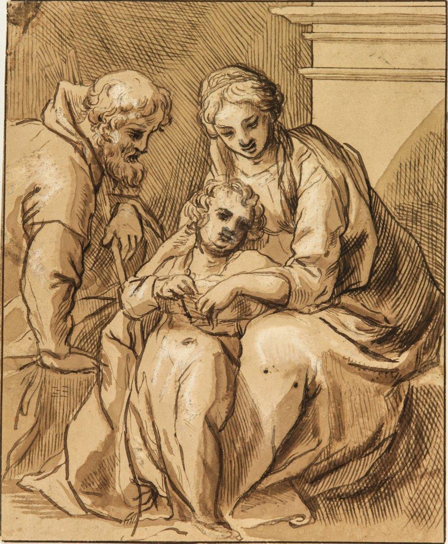 Giulio Cesare Amidano. Sacra famiglia.
