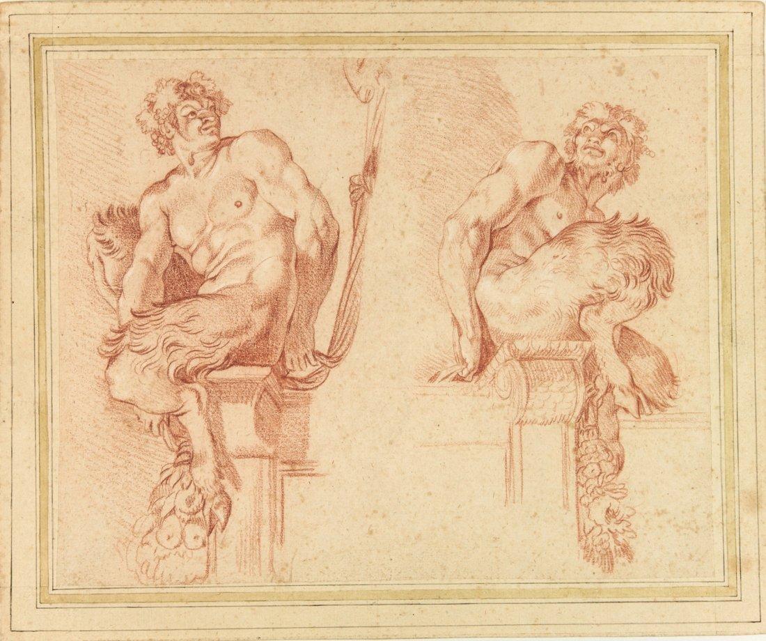 Pietro Aquila. Due satiri.