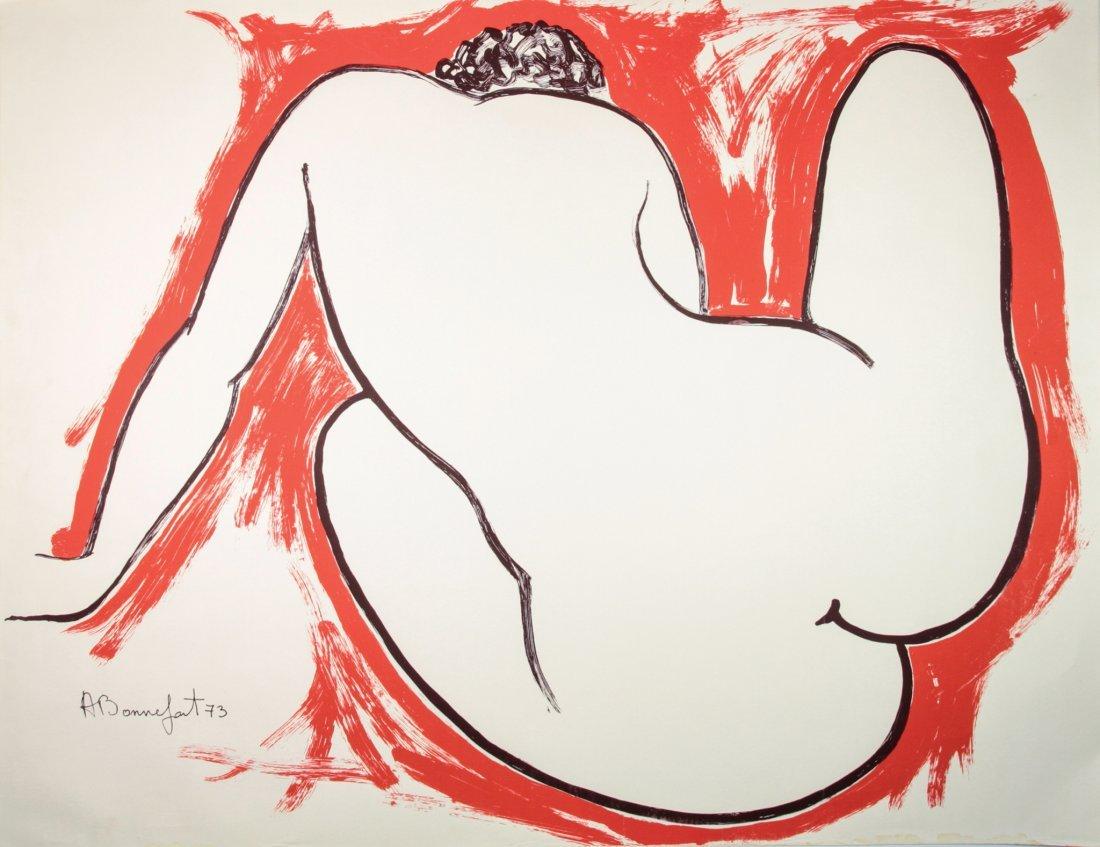 Alain Bonnefoit. Nudo di schiena.