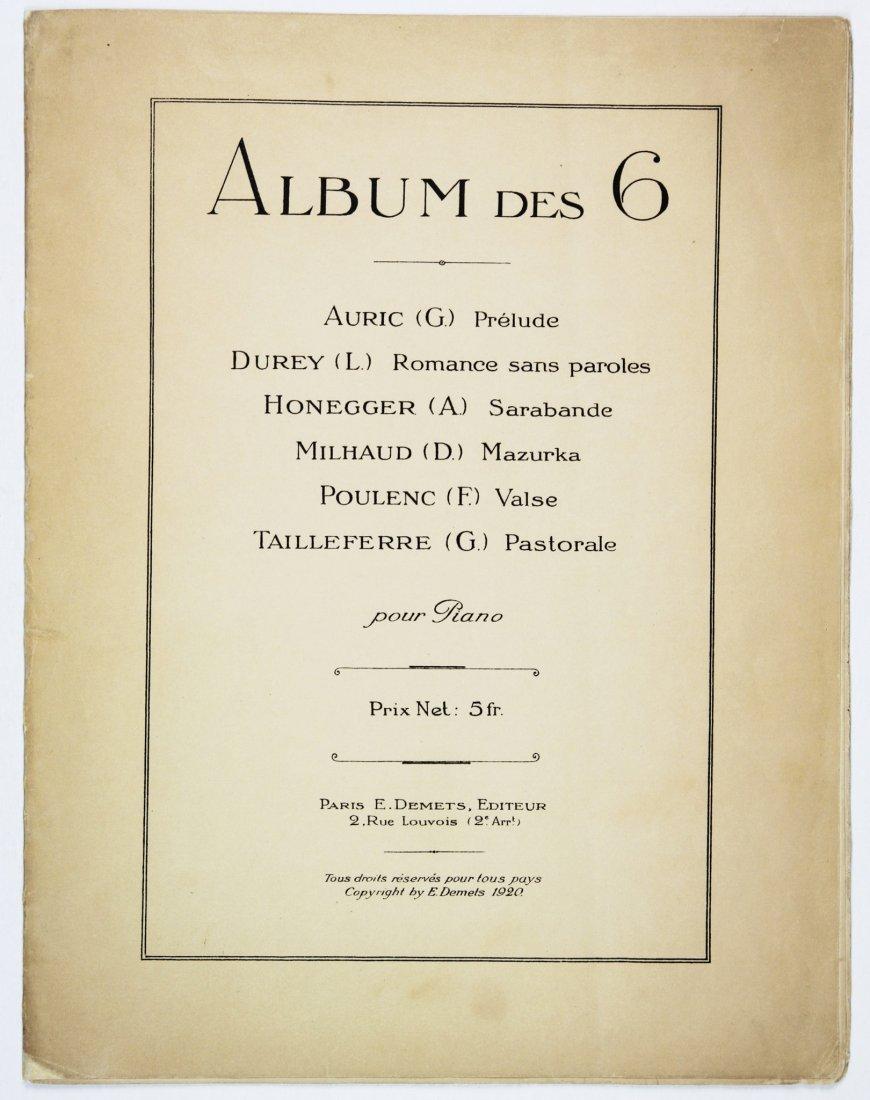 Album des 6 (Auric, Durey, Honneger, Milhaud…)
