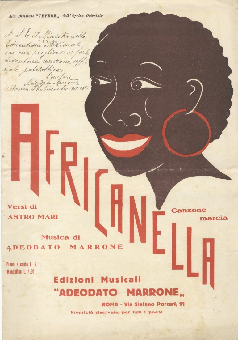 Africanella. Canzone marcia
