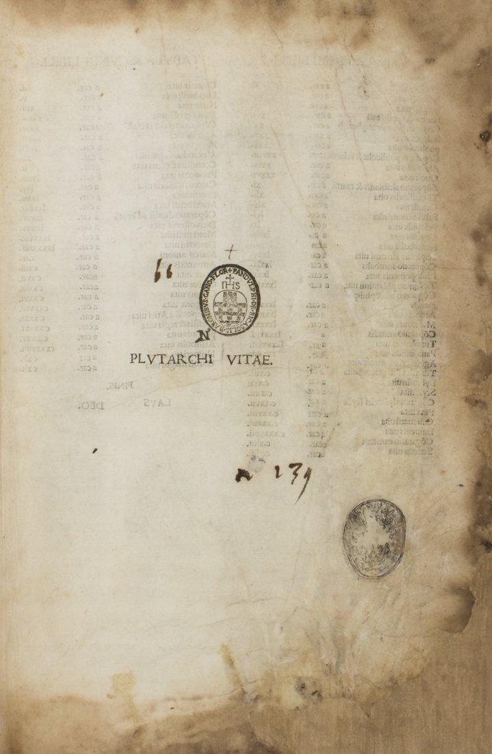 Plutarchus, 1491 copia di Pandolfo Ricasoli