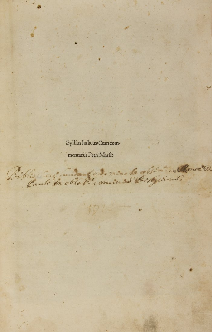 Silius Italicus Gaius, 1492
