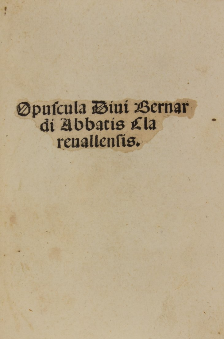 Bernardus Claravallensis, 1495