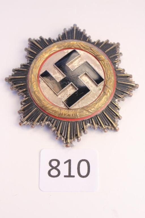 """810: WWII-Third Reich-Cross in GOLD-(Marked """"20"""")-RARE"""