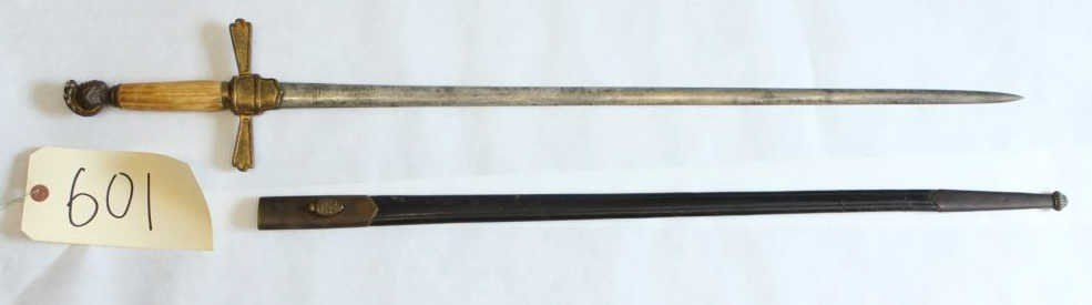 601: US Model 1850-1870 Militia Sword with Scabbard