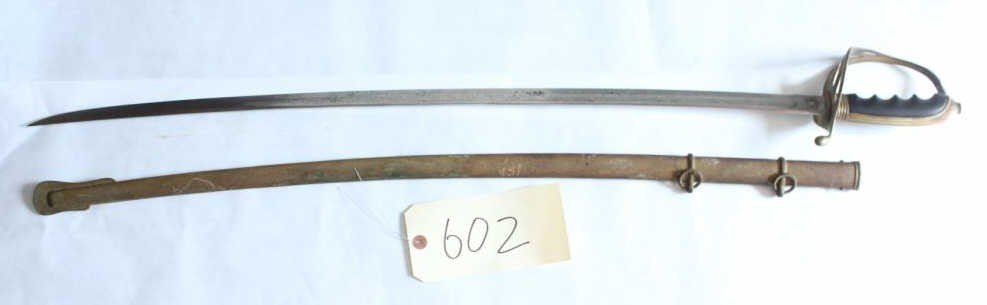 "602: US Model 1902 ""Army"" Officer's Sword with Scabbard"