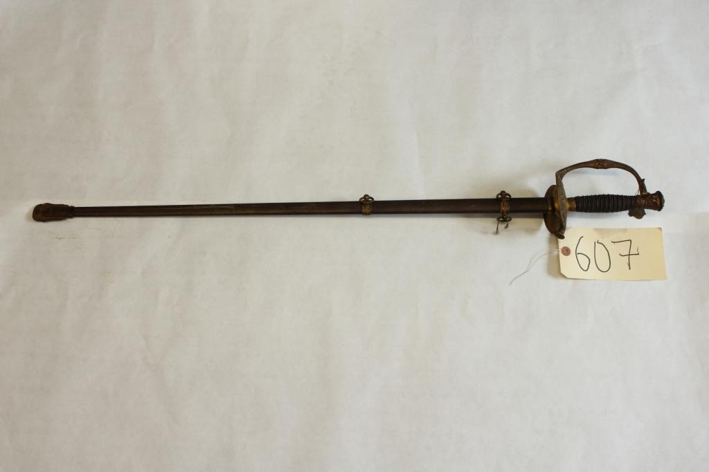 607: US Model 1860 Field and Staff Officer's Sword