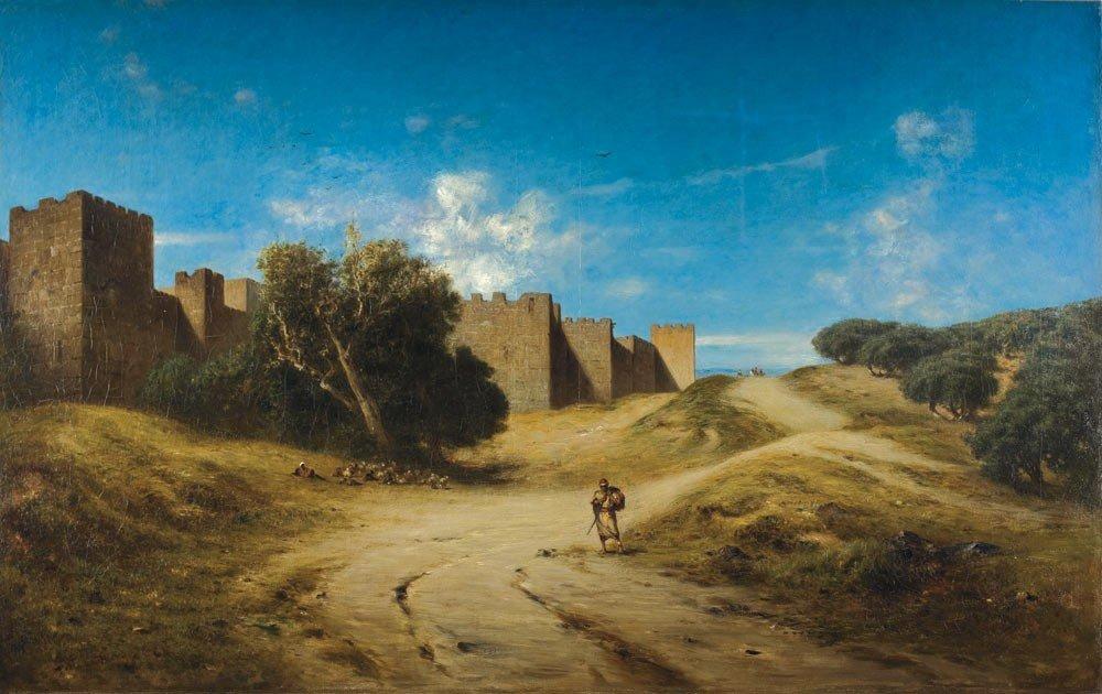 5: Narcisse Berchere 1819-1891 Murailles de Jérusalem H