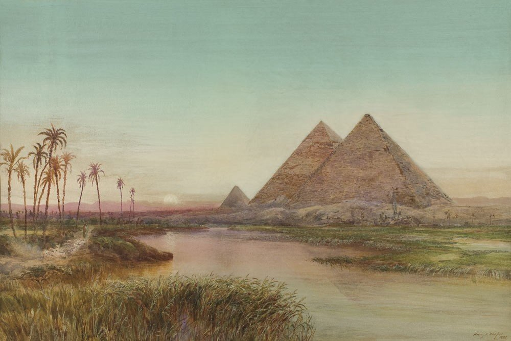 6: Henry Andrew Harper 1835-1900 Les pyramides de Gizeh