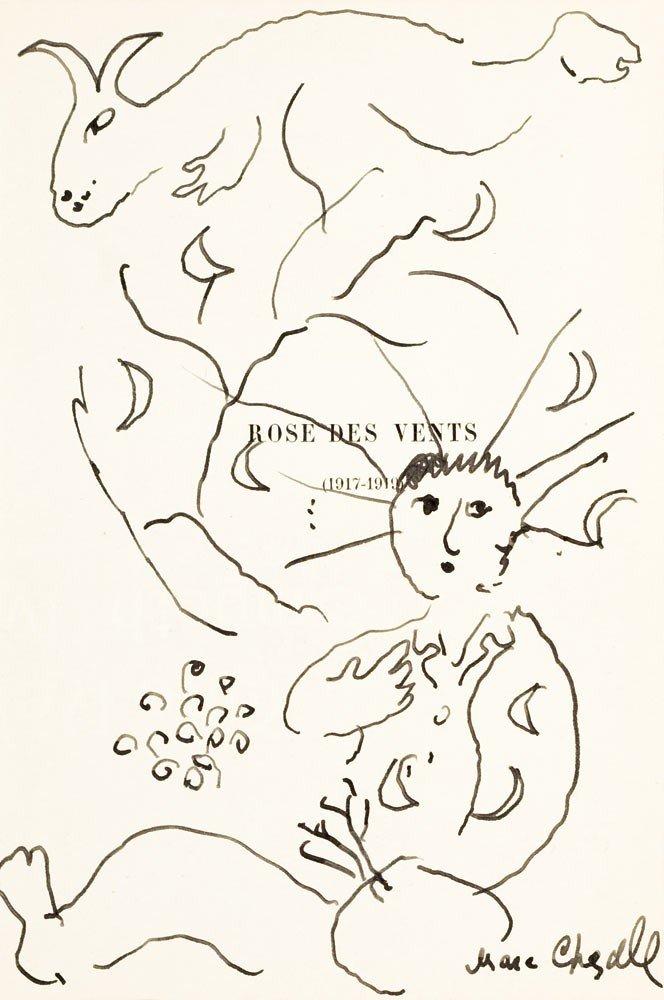 7: Marc Chagall 1887-1985 Rose des vents, c. 1975 Encre