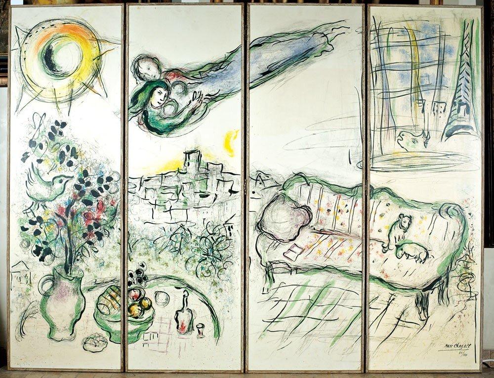 8: Marc Chagall 1887-1985 Paravent, Paris 1963 Lithogra