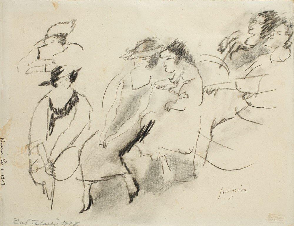 10: Jules Pascin 1885-1930 Bal, 1927 Fusain sur papier