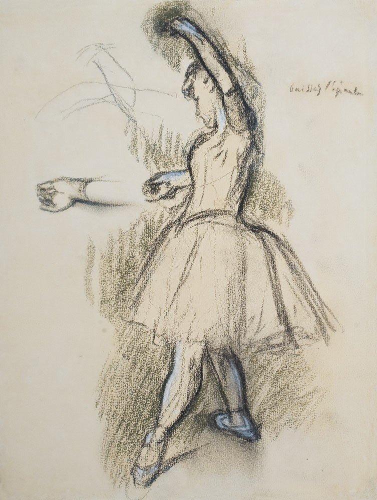 11: Edgar Degas 1834-1917 Danseuse Fusain et rehauts de