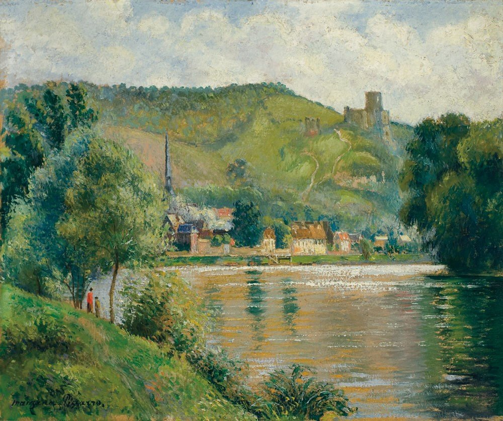 12: Georges Manzana-Pissarro 1871-1961 La Seine aux And