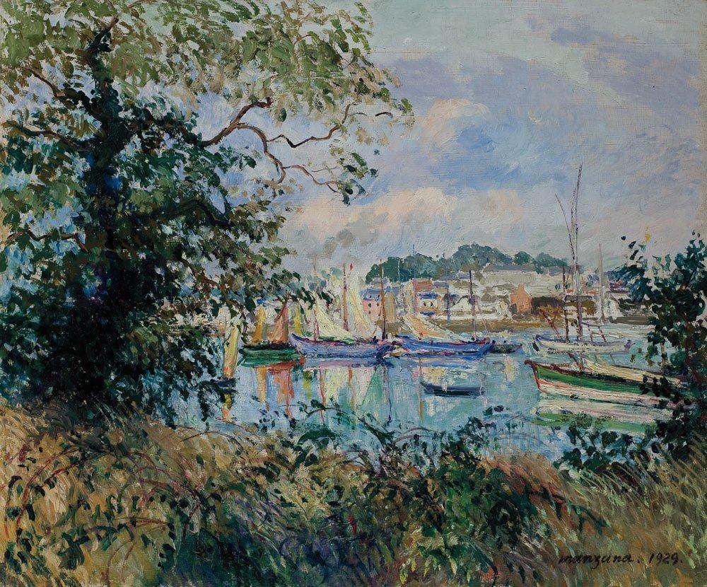 13: Georges Manzana-Pissarro 1871-1961 Paysage aux voil
