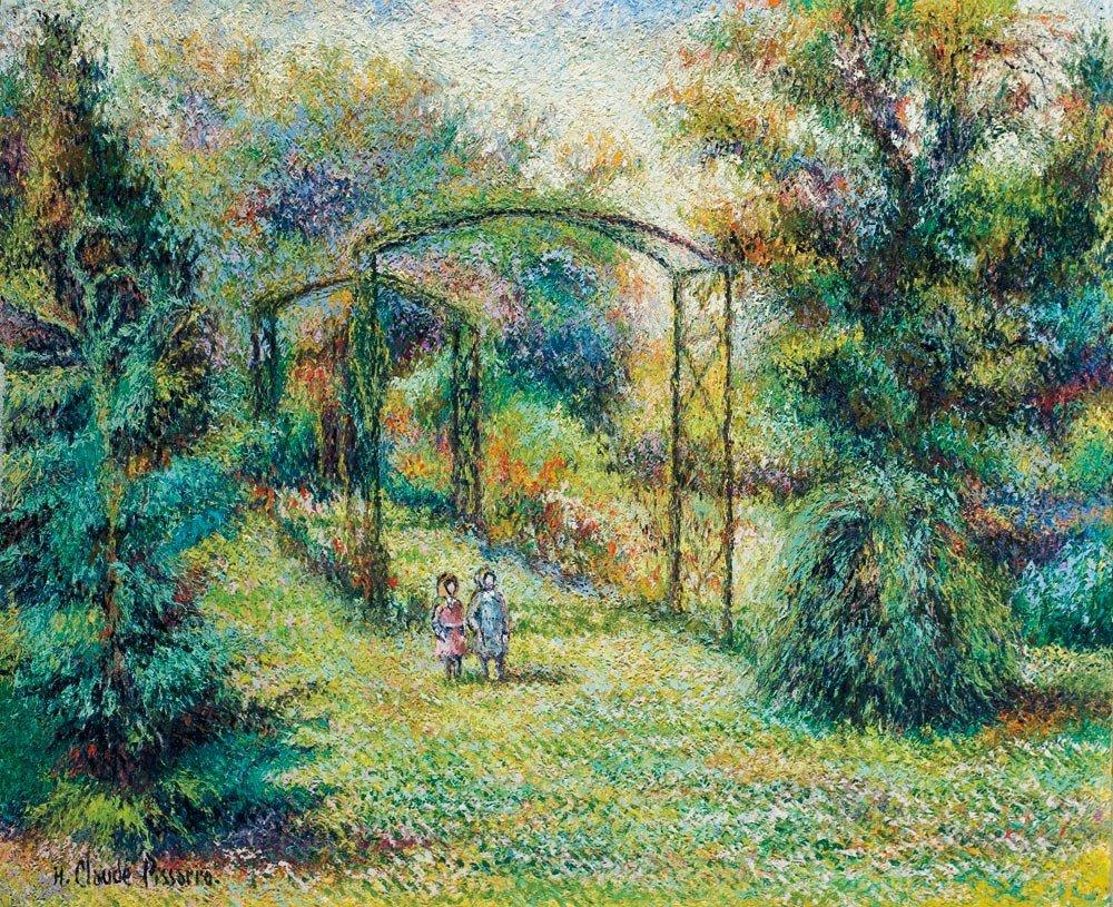 15: Hughes Claude Pissarro b.1935 Les deux Fillettes au