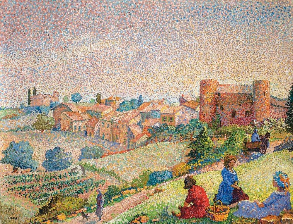 16: Yvonne Canu 1921-2008 Paysage Huile sur toile 50 x