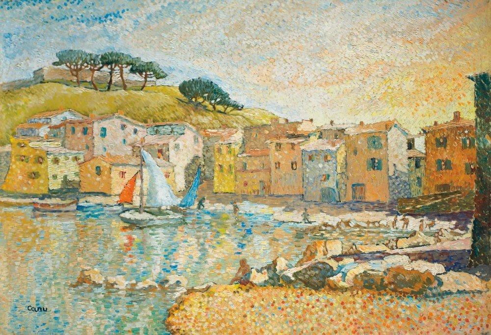 17: Yvonne Canu 1921-2008 La baie de St. Tropez Huile s