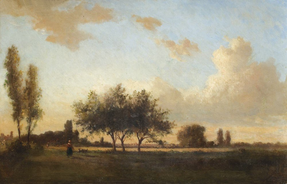 19: Camille Pissarro 1830-1903 Paysage aux environs de